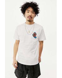 Santa Cruz Uo Exclusive White Screaming Dot T-shirt