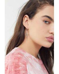 Luv Aj - Cross Hoop Earring - Lyst