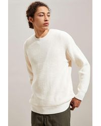 Urban Outfitters Uo Chenille Crew Neck Sweater - White