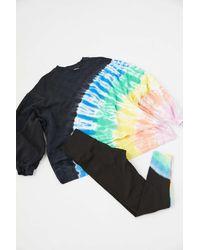 Electric and Rose Neil Tie-dye Crew Neck Sweatshirt - Black
