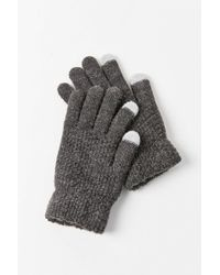 Urban Outfitters Knit Texting Glove - Black