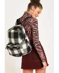 Urban Outfitters - Uo Large Black + White Check Backpack - Womens All - Lyst