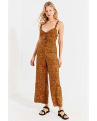 4e799c92859c Urban Outfitters - Uo Ashley Button-down Tie-back Jumpsuit - Lyst