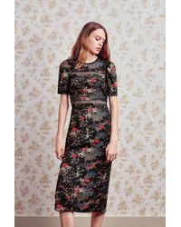 Urban Outfitters - Uo Emma Marie Lace Trim Midi Dress - Lyst