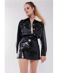 Capulet Lanora Faux Leather Mini Skirt - Black