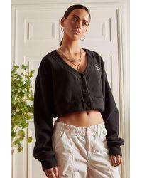 Reebok Classics Wide Knit Cardigan - Black
