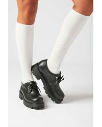 Urban Outfitters Thin Ribbed Knee-high Sock - White