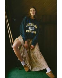 Urban Outfitters Oversized Tie-dye Crew Neck Sweatshirt - Blue