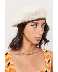 Urban Outfitters Sherpa Adjustable Beret - Multicolor