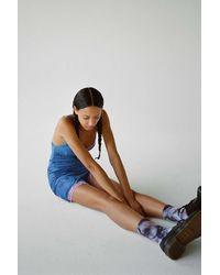 Motel Coti Lace Trim Mini Slip Dress - Blue