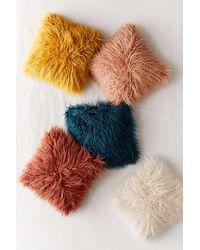 Urban Outfitters Mila Faux Fur Throw Pillow - Multicolour