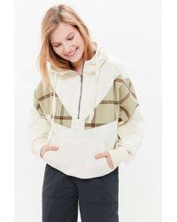 Urban Outfitters Uo Jasper Half-zip Hoodie Sweatshirt - Multicolour
