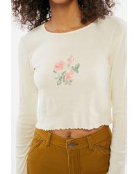 Truly Madly Deeply Floral Long Sleeve Baby Tee - Multicolor