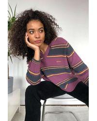 iets frans... Striped Sweater - Purple