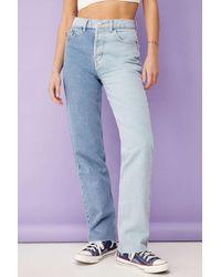 BDG Summer Two-tone Pax Straight Leg Jean - Blue