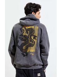 Urban Outfitters Dragon Pigment Dye Hoodie Sweatshirt - Multicolor