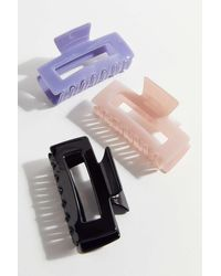 Urban Outfitters Ren Rectangle Claw Clip - Blue