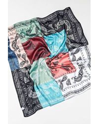 Urban Outfitters Traditional Paisley Mashup Bandana - Blue