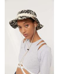 173f98ed2 Brixton Stowell Bucket Hat in Brown - Lyst