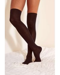 Out From Under - Lightweight Over-the-knee Black Sock - Womens All - Lyst