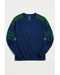 BDG Sport Jersey Long Sleeve Tee - Blue