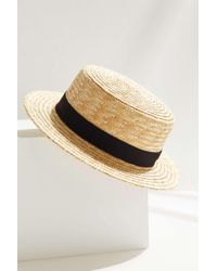 Urban Outfitters - Uo Small Straw Boater Hat - Lyst