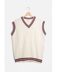 Urban Outfitters Uov-neck Sweater Vest - White