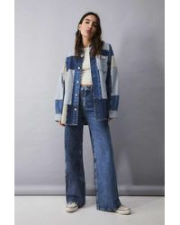 BDG - Two-tone Wide-leg Puddle Jeans - Lyst