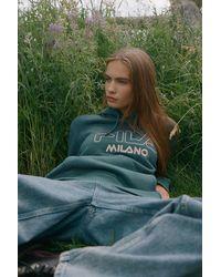 Urban Outfitters x FILA Fila Uo Exclusive Satinka Hoodie Sweatshirt - Blue
