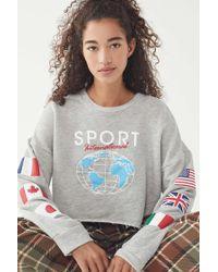 Truly Madly Deeply - International Sport Cropped Sweatshirt - Lyst