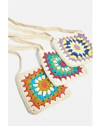 Urban Outfitters Uo Square Crochet Crossbody Bag - Multicolour