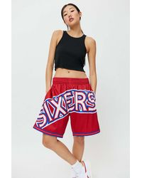 Mitchell & Ness Philadelphia 76ers Blown Out Fashion Short - Red