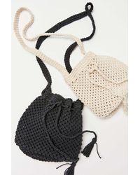 Urban Outfitters Jade Crochet Bucket Bag - Multicolor