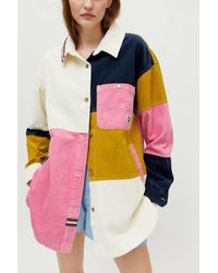 BDG Royce Corduroy Shirt Jacket - Multicolour