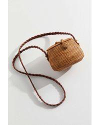 Urban Outfitters Straw Mini Flat Top Crossbody Bag - Multicolour