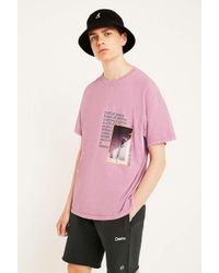 Urban Outfitters - Uo Photographic Pink Flower T-shirt - Lyst