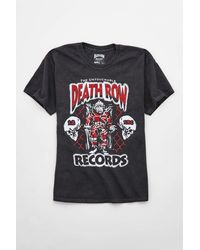Urban Outfitters Death Row Records Glitter Vintage Wash Tee - Black
