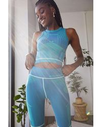 iets frans... Turquoise Ribbed Tank Top - Blue