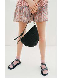 Urban Outfitters Uo Jessa Straw Crossbody Bag - Black