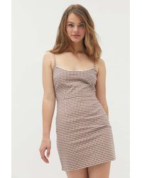 Urban Outfitters Uo Southold Gingham Mini Dress - Multicolor