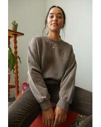 BDG Chocolate Crest Embroidered Sweatshirt - Brown