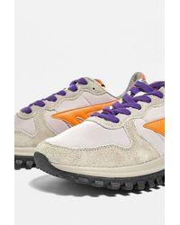 Hi-Tec Beige & Purple Gtr Trainers - Multicolour