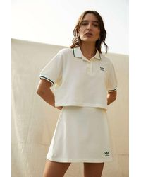 adidas Tennis Luxe Cropped Off-white Polo Shirt