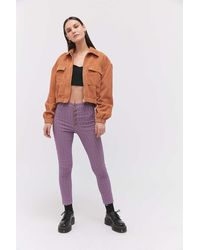 Urban Outfitters Uo Lita Skinny Pant - Purple