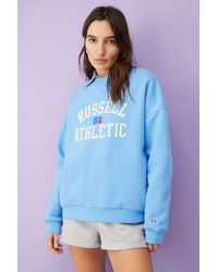 Russell Athletic Russel Athletic Uo Exclusive Oversized Crew Neck Sweatshirt - Blue