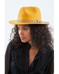 Urban Outfitters Uo Lexi Felt Fedora - Yellow