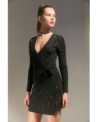 Urban Outfitters - Uo Sugar Sparkly Mini Wrap Dress - Lyst