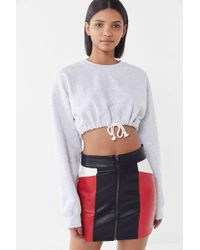 908cf6f960 Urban Outfitters - Uo Brandi Faux Leather Colorblock Mini Skirt - Lyst
