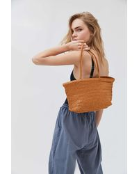 Urban Outfitters Laurel Large Woven Tote Bag - Brown
