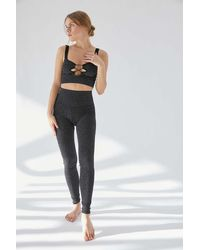 Out From Under Metallic High-waisted Legging - Black